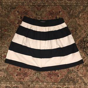 Banana Republic Navy and White Striped Mini Skirt